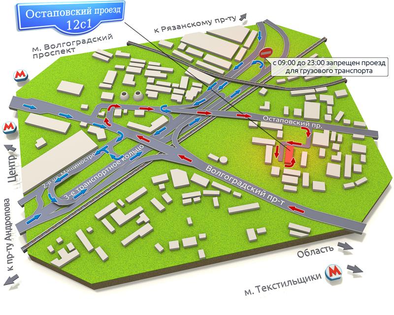 Положение на карте Предложение